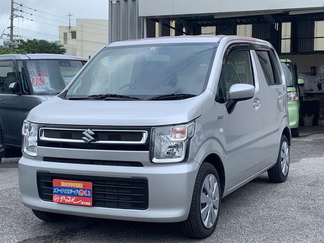 沖縄県の中古車ならワゴンR ハイブリッドFX ワンオーナー 社外CDデッキ シートヒーター オートライト オートエアコン キーレスエントリー アイドリングストップ サイドバイザー セキュリティアラーム ETC