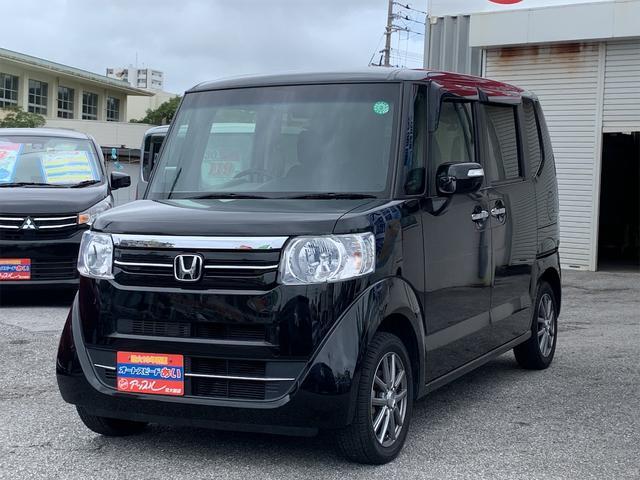 沖縄の中古車 ホンダ N-BOX+ 車両価格 95万円 リ済込 2016(平成28)年 5.3万km ブラック