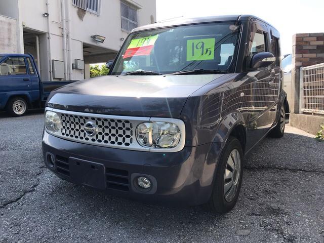 沖縄の中古車 日産 キューブ 車両価格 19万円 リ済込 平成19年 11.7万km ガンM