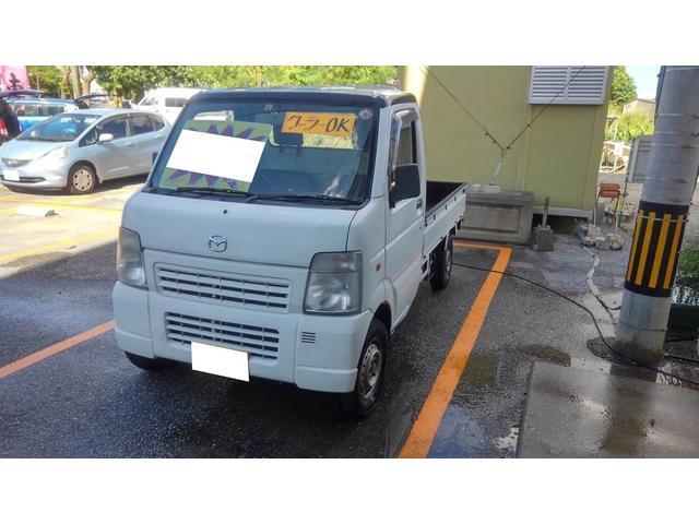 沖縄の中古車 マツダ スクラムトラック 車両価格 23万円 リ済込 2007(平成19)年 21.0万km ホワイト