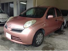 沖縄の中古車 日産 マーチ 車両価格 23万円 リ済別 平成21年 8.2万K ピンクM