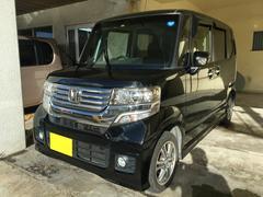 沖縄の中古車 ホンダ N BOXカスタム 車両価格 85万円 リ済別 平成25年 8.7万K ブラックM