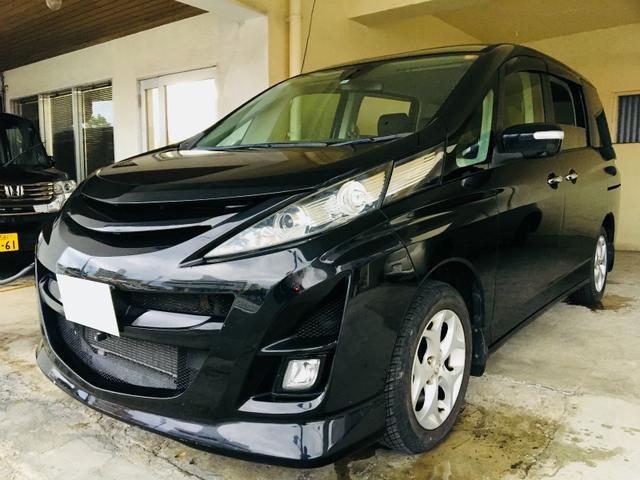 沖縄の中古車 マツダ ビアンテ 車両価格 45万円 リ済別 平成20年 10.4万km ブラックM