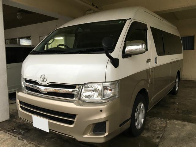 沖縄県の中古車ならハイエースワゴン グランドキャビン ワンオーナー コーナーセンサー2年保証対象