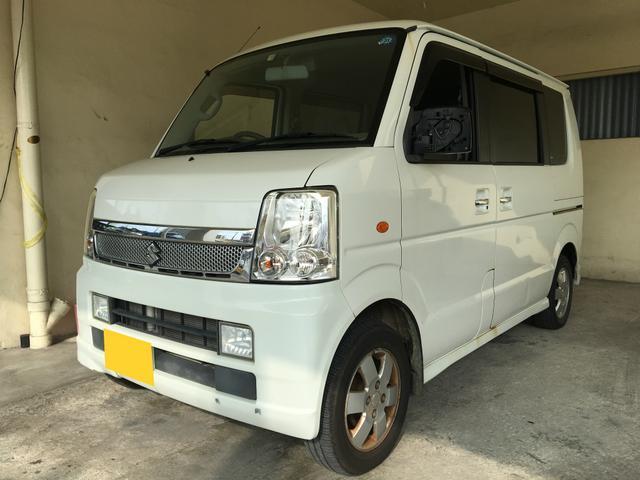 沖縄県の中古車ならエブリイワゴン PZターボ パワスラ ワンオーナー 2年保証対象