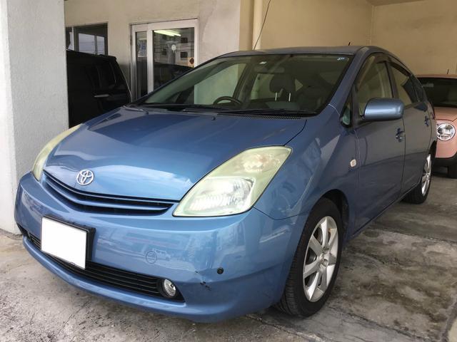 沖縄の中古車 トヨタ プリウス 車両価格 35万円 リ済別 2005(平成17)年 13.6万km ライトブルー