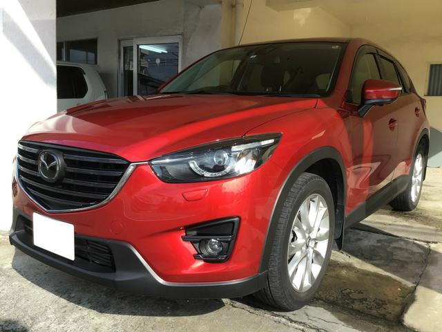 沖縄の中古車 マツダ CX-5 車両価格 179万円 リ済込 2016(平成28)年 5.6万km レッドM