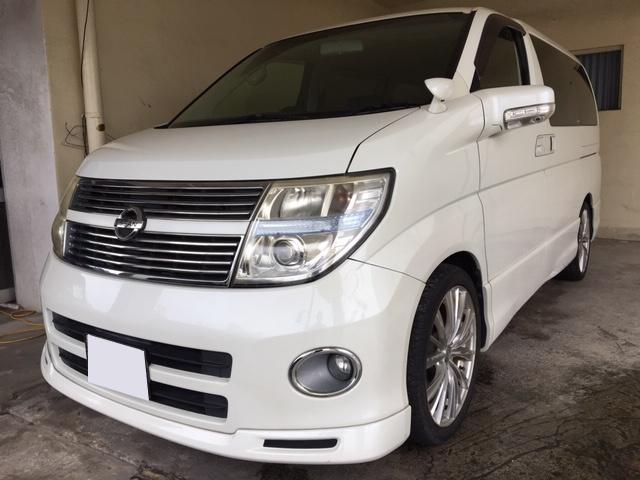 沖縄の中古車 日産 エルグランド 車両価格 39万円 リ済込 2008(平成20)年 14.7万km パールホワイト