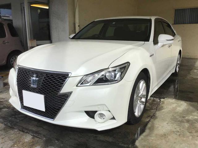 沖縄県の中古車ならクラウンハイブリッド アスリートS ワンオーナー サンルーフ メーカーナビTV Bluetooth 2年保証対象車