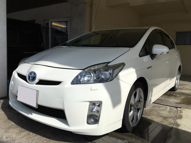 沖縄の中古車 トヨタ プリウス 車両価格 49万円 リ済別 2009(平成21)年 9.1万km パールホワイト