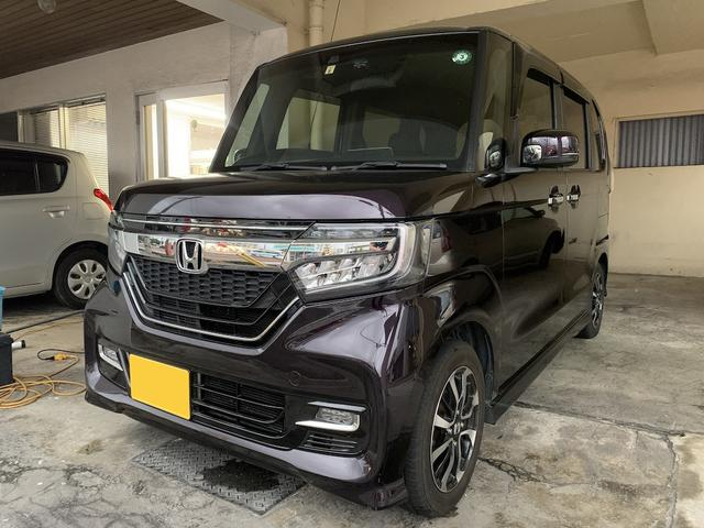 沖縄県宜野湾市の中古車ならN-BOXカスタム G・Lホンダセンシング ナビ バックモニター Bluetooth ETC 左側パワースライド 2年保証対象車
