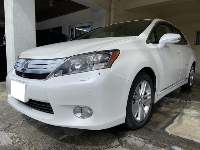 沖縄の中古車 レクサス HS 車両価格 105万円 リ済別 2010(平成22)年 5.4万km パールホワイト