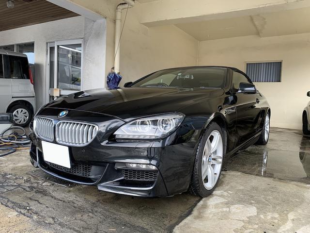 BMW 6シリーズ 640iカブリオレ 640iカブリオレ(4名) Mスポーツパッケージ ディーラー車 パドルシフト 純正ナビ TV Bluetooth バックモニター レザーシート シートヒーター 前後パークセンサー 純正19インチ