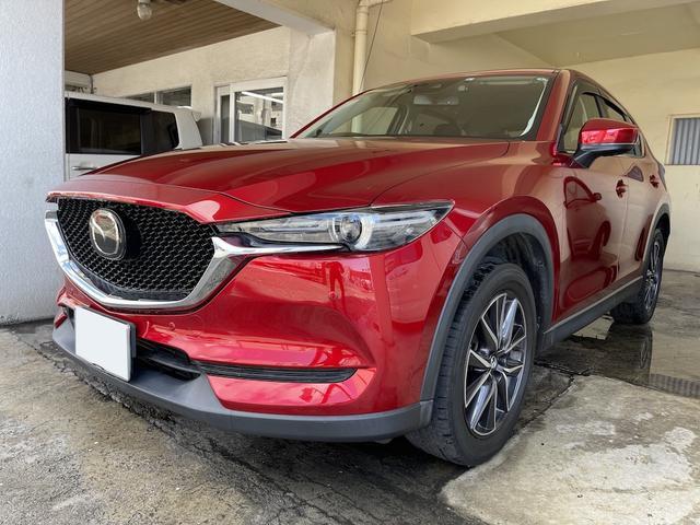 沖縄の中古車 マツダ CX-5 車両価格 229万円 リ済別 2017(平成29)年 5.7万km レッド