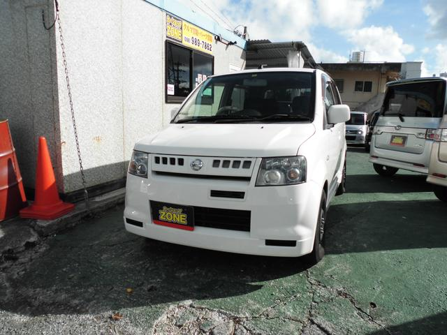 沖縄の中古車 日産 オッティ 車両価格 24万円 リ済込 2005(平成17)年 10.6万km ホワイトM