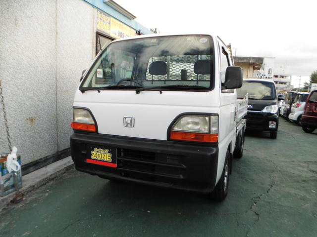 沖縄の中古車 ホンダ アクティトラック 車両価格 39万円 リ済込 平成9年 15.8万km ホワイト