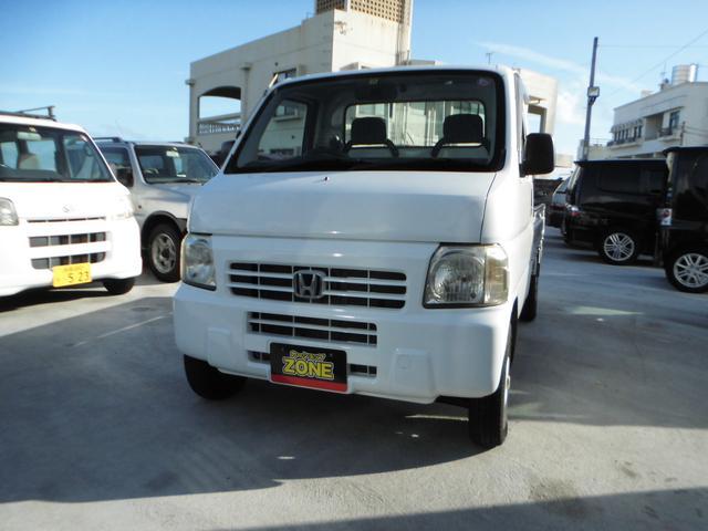 沖縄の中古車 ホンダ アクティトラック 車両価格 35万円 リ済込 2005(平成17)年 7.6万km ホワイト