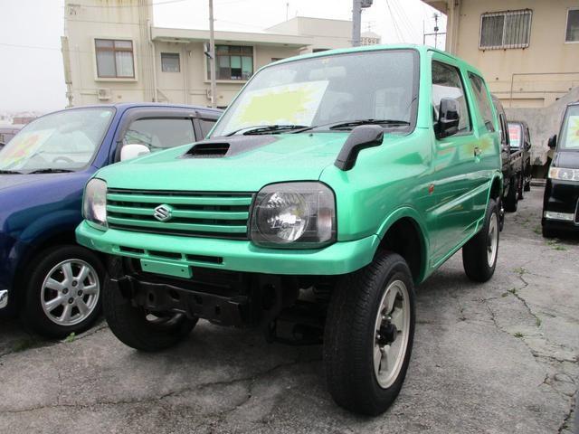 沖縄市 カーショップZONE スズキ ジムニー XG グリーンM 11.9万km 2002(平成14)年