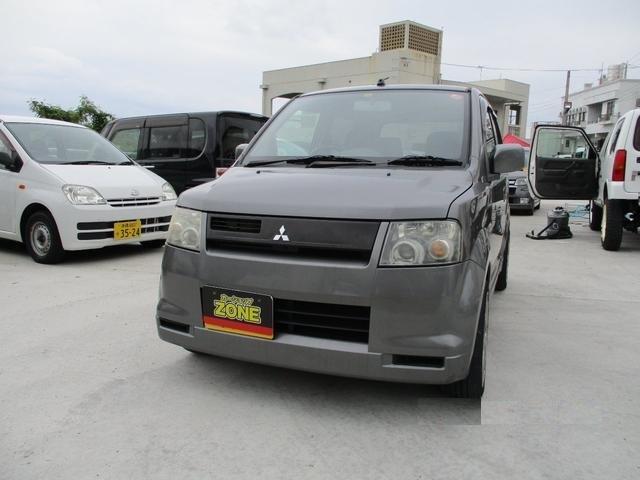 沖縄の中古車 三菱 eKスポーツ 車両価格 15万円 リ済込 平成14年 13.4万km グレーM