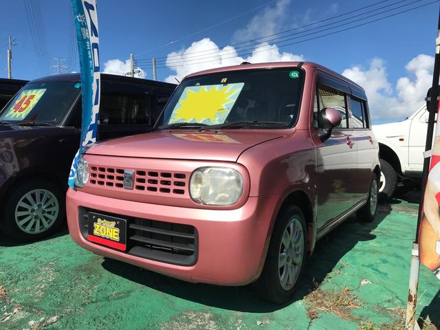沖縄の中古車 スズキ アルトラパン 車両価格 39万円 リ済込 2009(平成21)年 4.6万km ピンクM