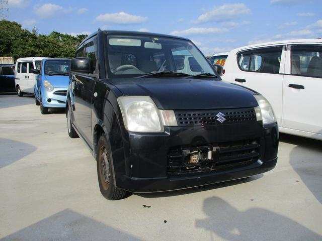 沖縄の中古車 スズキ アルト 車両価格 16万円 リ済込 2006(平成18)年 9.8万km ブラック