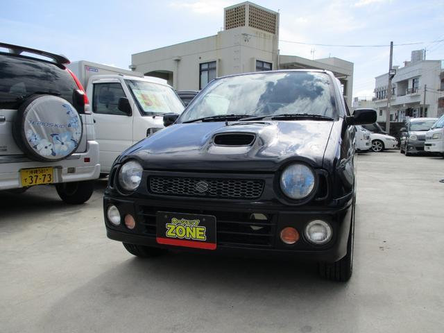 沖縄の中古車 スズキ アルトワークス 車両価格 37万円 リ済込 1998(平成10)年 12.6万km ブラック