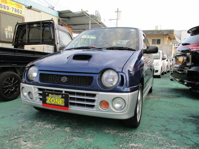 沖縄の中古車 スズキ アルトワークス 車両価格 35万円 リ済込 1997(平成9)年 13.3万km ブルーII