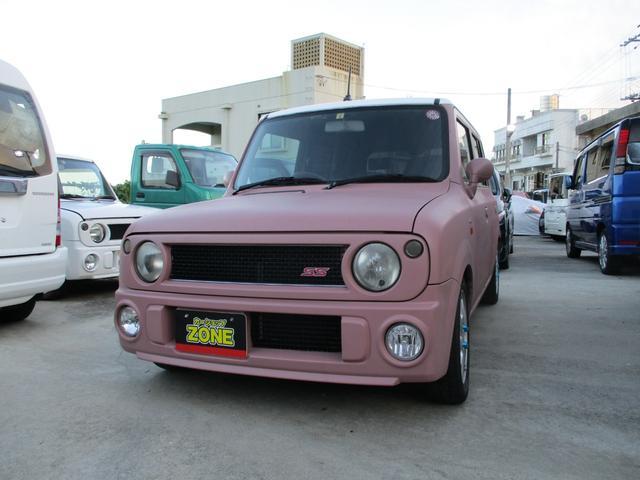 沖縄の中古車 スズキ アルトラパン 車両価格 49万円 リ済込 2008(平成20)年 13.0万km ピンク