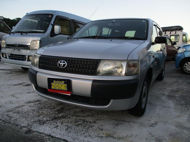 沖縄の中古車 トヨタ プロボックスバン 車両価格 62万円 リ済込 2007(平成19)年 7.0万km シルバー