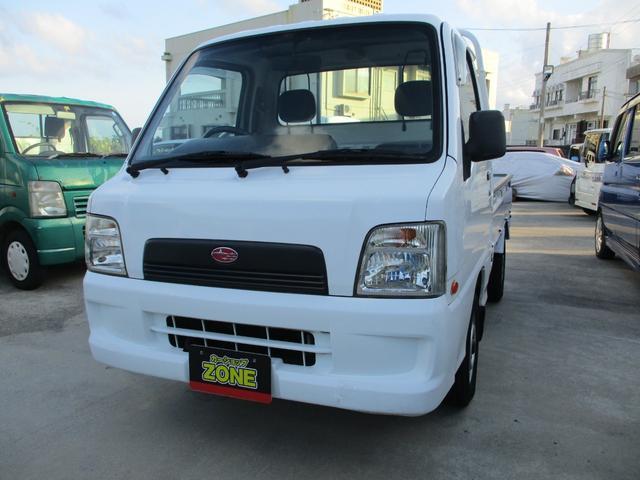 沖縄の中古車 スバル サンバートラック 車両価格 54万円 リ済込 2003(平成15)年 9.0万km ホワイト