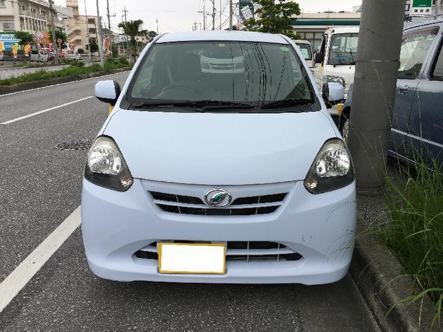 沖縄の中古車 ダイハツ ミライース 車両価格 34万円 リ済込 2011(平成23)年 8.5万km スカイブルー