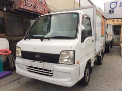 沖縄の中古車 スバル サンバートラック 車両価格 29万円 リ済込 平成18年 21.4万K ホワイト