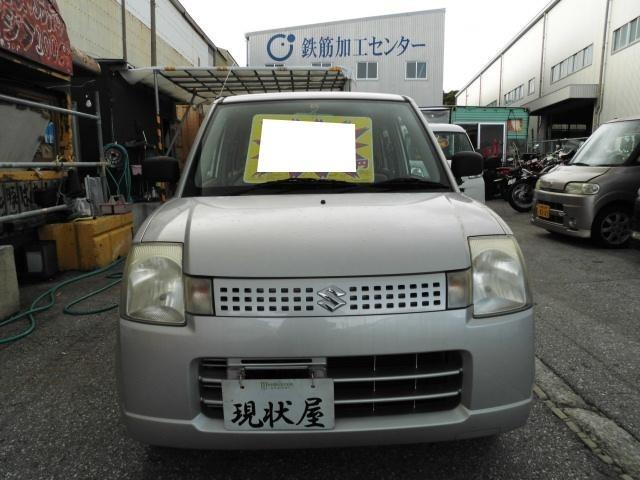 沖縄の中古車 スズキ アルト 車両価格 19万円 リ済込 平成18年 14.0万km シルバー