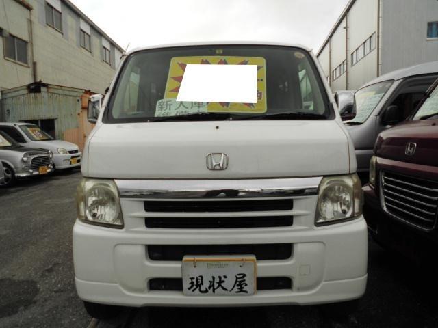 沖縄の中古車 ホンダ バモス 車両価格 18万円 リ済込 平成16年 18.0万km ホワイト