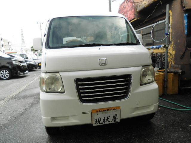 沖縄の中古車 ホンダ バモスホビオ 車両価格 22万円 リ済込 平成15年 14.4万km ホワイト