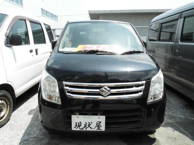 沖縄の中古車 スズキ ワゴンR 車両価格 34万円 リ済込 2010(平成22)年 10.4万km ブラック