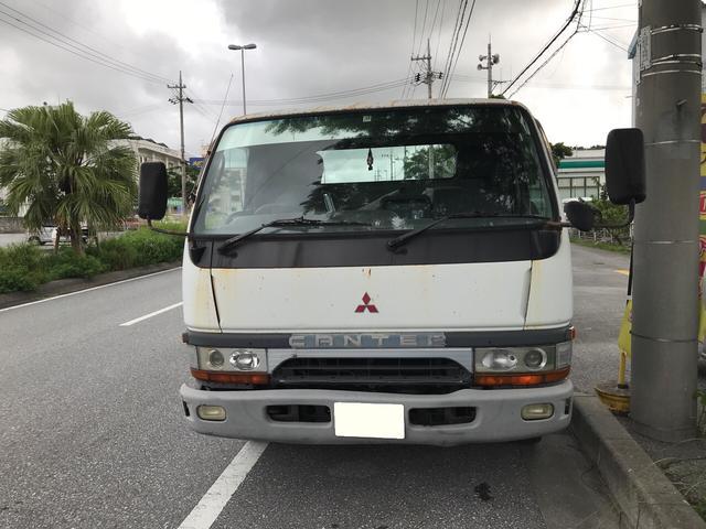 沖縄市 現状屋&Auto garage Sun's 三菱ふそう キャンター フルフラット 新品ウインチワイヤー リモコン ホワイト 42.3万km 1998(平成10)年