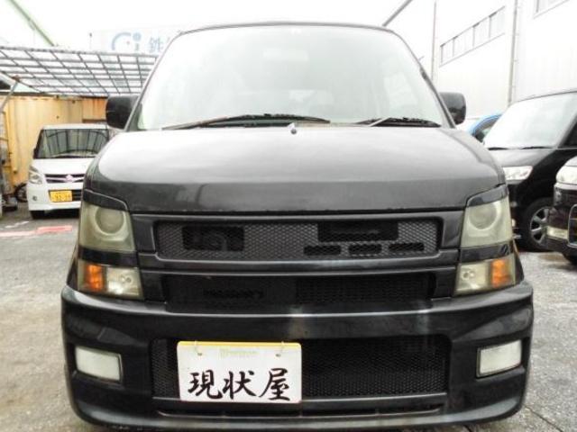 沖縄の中古車 スズキ ワゴンR 車両価格 18万円 リ済込 2004(平成16)年 16.0万km ブルーイッシュブラックパール3