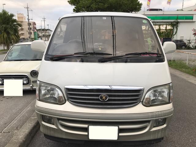 沖縄県の中古車ならハイエースワゴン リビングサルーンEX ガソリン トリプルムーンルーフ 3列シート 社外アルミ 純正HID