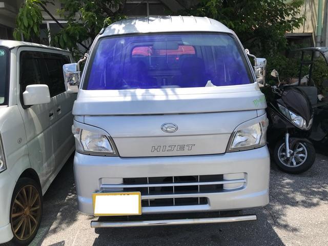 沖縄県沖縄市の中古車ならハイゼットトラック ジャンボ 2.5インチリフトアップ フロントオーロラゴーストフィルム施工 社外16インチ