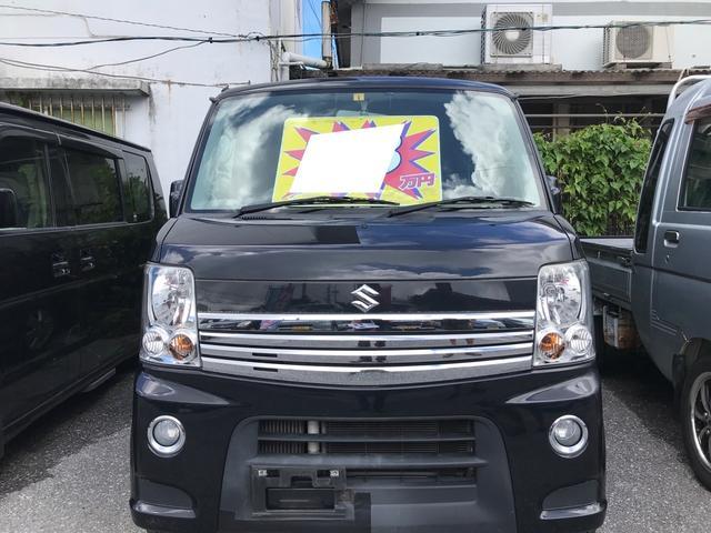 沖縄の中古車 スズキ エブリイワゴン 車両価格 59万円 リ済込 2010(平成22)年 11.3万km スパークブラックパール