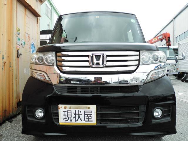 沖縄の中古車 ホンダ N-BOXカスタム 車両価格 78万円 リ済込 2013(平成25)年 7.9万km ブラックM