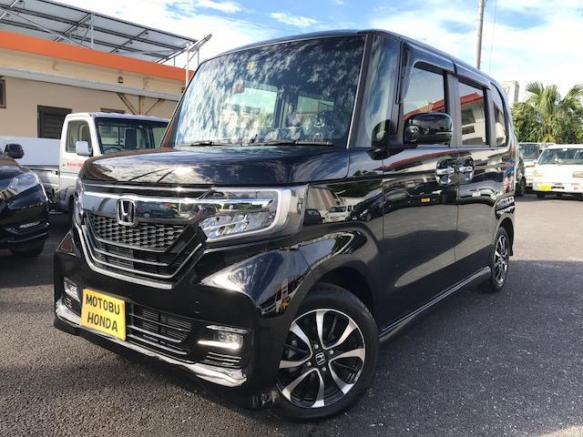 沖縄の中古車 ホンダ N-BOXカスタム 車両価格 162.6万円 リ済込 平成30年 0.3万km クリスタルブラックパール