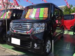 沖縄の中古車 ホンダ N BOXカスタム 車両価格 109万円 リ済別 平成26年 7.5万K ブラック