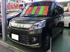 沖縄の中古車 マツダ フレアワゴンカスタムスタイル 車両価格 95万円 リ済別 平成26年 3.3万K Dグリーン