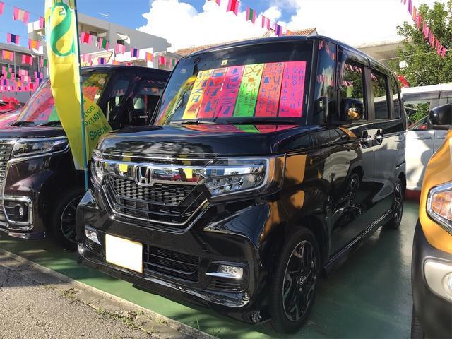 沖縄県の中古車ならN-BOXカスタム G・Lターボホンダセンシング TV ナビ 軽自動車 LED