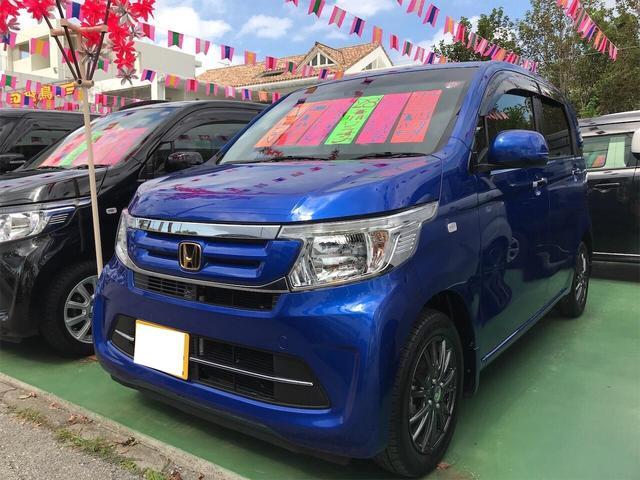 沖縄の中古車 ホンダ N-WGN 車両価格 89万円 リ済別 2016(平成28)年 1.7万km ブルー