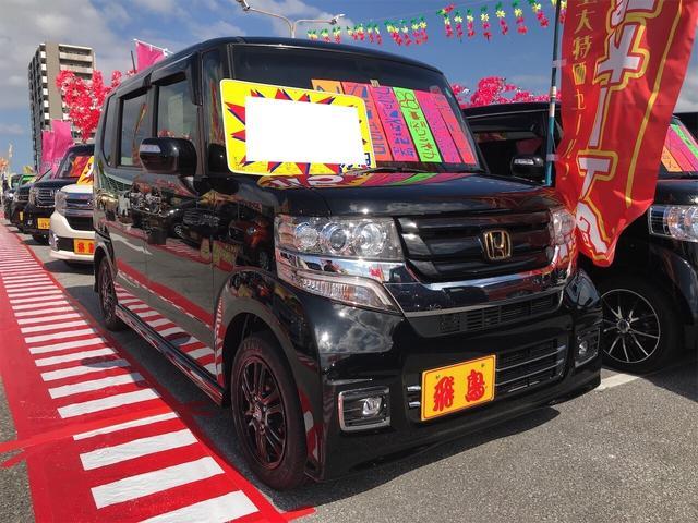 沖縄県の中古車ならN-BOXカスタム G SSブラックスタイルパッケージ TV ナビ 軽自動車