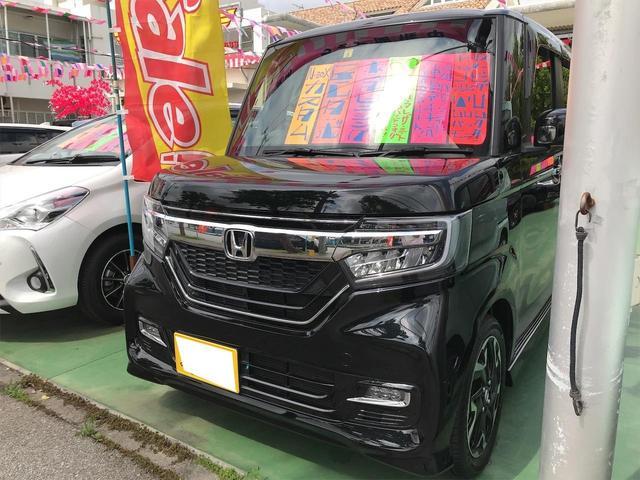 沖縄県うるま市の中古車ならN-BOXカスタム G・Lターボホンダセンシング
