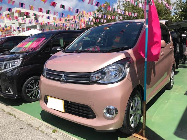 沖縄県の中古車ならeKワゴン G ワンオーナー スマートキー プッシュスタート 社外ナビTV バックカメラ アイドリングストップ